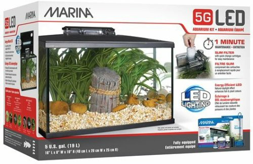 marina 5 gallon fish tank reviews